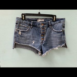 Free People Jean Shorts - Trendy Denim Cutoffs